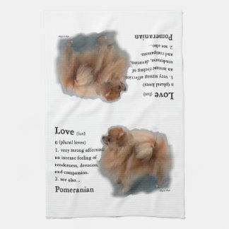 Pomeranian Lovers Gifts Tea Towel