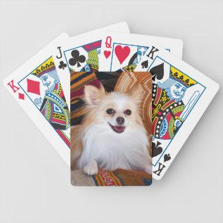 Pomeranian Lying On Blankets Poker Deck