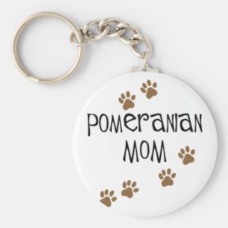 Pomeranian Mom Basic Round Button Key Ring