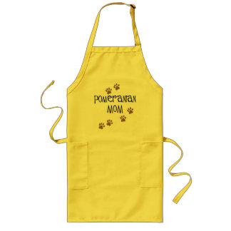 Pomeranian Mom Long Apron