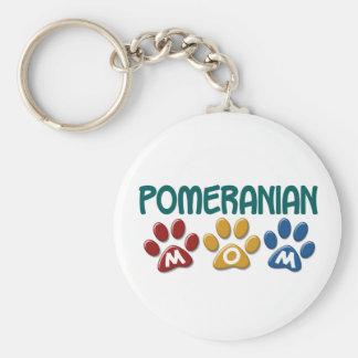 POMERANIAN Mom Paw Print 1 Basic Round Button Key Ring