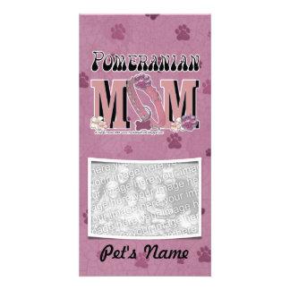 Pomeranian MOM Personalized Photo Card