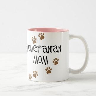 Pomeranian Mom Two-Tone Coffee Mug