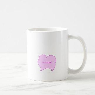 Pomeranian of pink and blue coffee mug