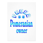Pomeranian Owner Personalized Invite