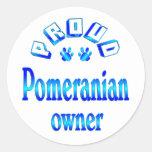 Pomeranian Owner Round Stickers