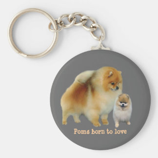 Pomeranian Pals Keychain
