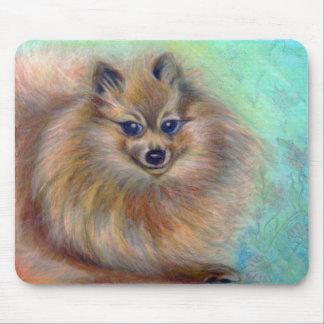 Pomeranian Pastel mouse pad