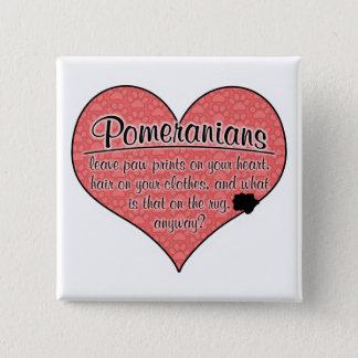 Pomeranian Paw Prints Dog Humor 15 Cm Square Badge