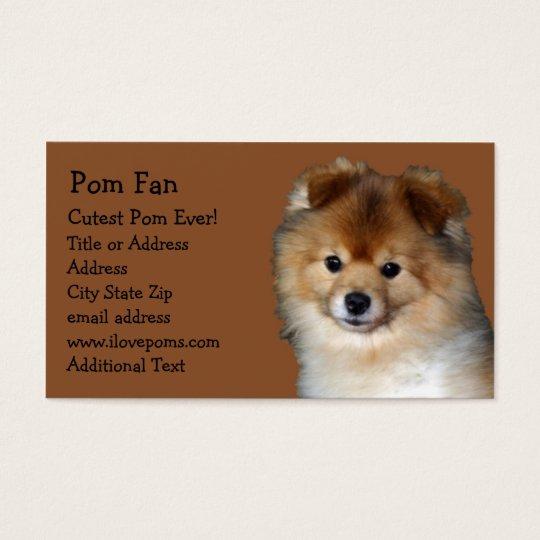 Pomeranian Photo Business Card