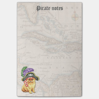Pomeranian Pirate Post-it® Notes