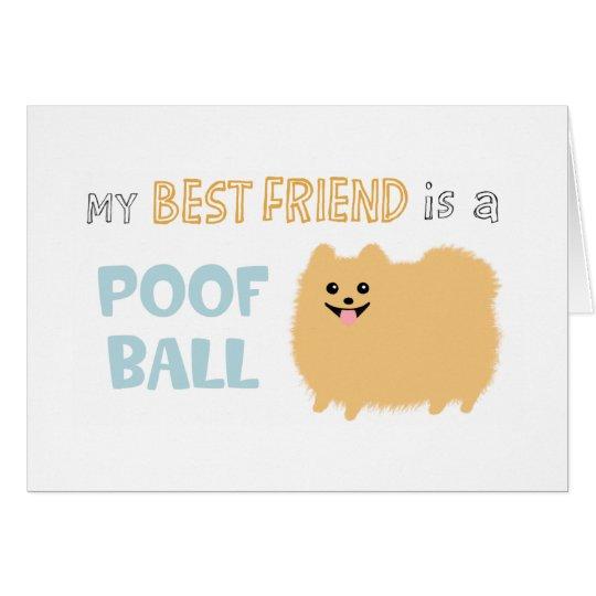 Pomeranian Poof Ball Card