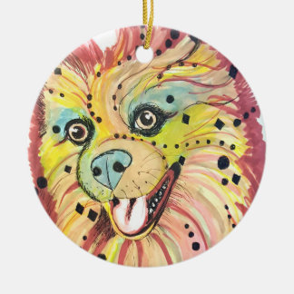 Pomeranian Pop Art Ornament