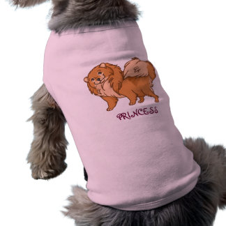 Pomeranian Princess Sleeveless Dog Shirt