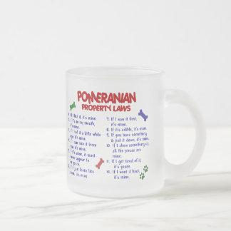 POMERANIAN Property Laws 2 Frosted Glass Mug