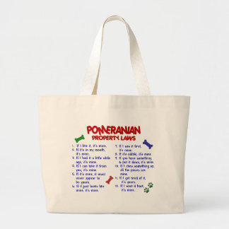 POMERANIAN Property Laws 2 Large Tote Bag