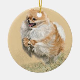 Pomeranian Pup Christmas Ornament