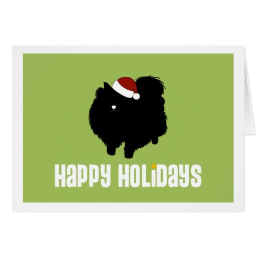 Pomeranian Santa Hat Greeting Cards