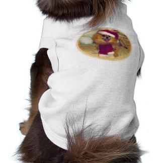 Pomeranian Santa Xmas dog T-Shirt