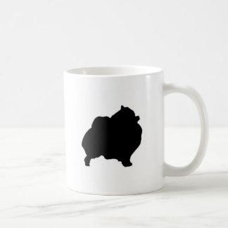pomeranian silhouette coffee mug