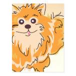Pomeranian Spitz Dog Art Post Card