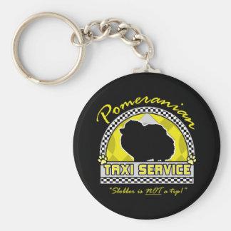 Pomeranian Taxi Service Basic Round Button Key Ring