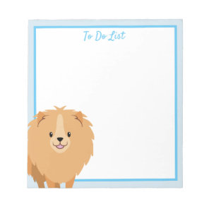 Pomeranian To Do List Blank Notepad