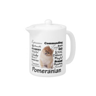 Pomeranian Traits Teapot