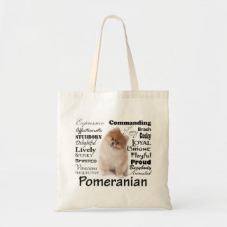 Pomeranian Traits Tote Budget Tote Bag