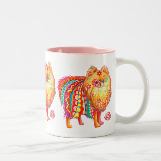 Pomeranian Two-Tone Coffee Mug