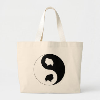 Pomeranian Yin Yang Large Tote Bag