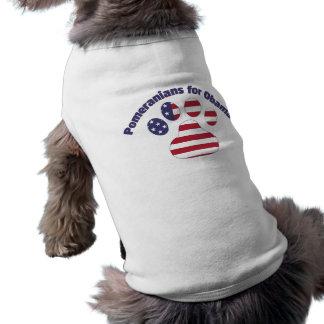 Pomeranians For Obama.png Doggie Tshirt