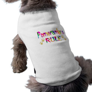 Pomeranians Rule Sleeveless Dog Shirt
