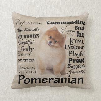 Pomerian Traits Pillow