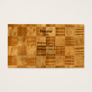 Pommele Sapele and Douka Chequered Pattern Business Card
