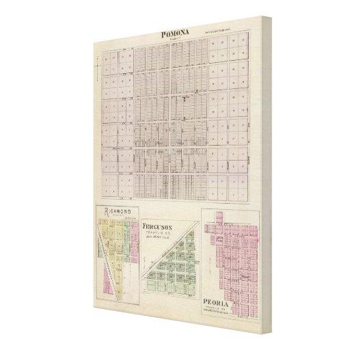 Pomona, Richmond, Ferguson and Peoria Stretched Canvas Prints