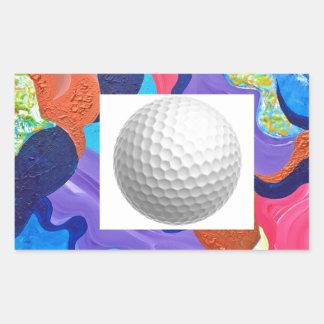 Pomp Golf Ball Rectangular Sticker
