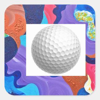 Pomp Golf Ball Square Sticker