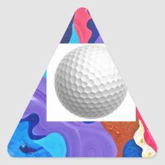 Pomp Golf Ball Triangle Sticker