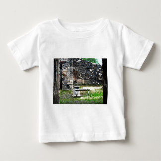 Pompei courtyard marble fountain and bench baby T-Shirt