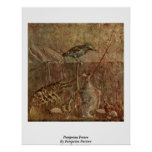 Pompeian Fresco By Pompeian Painter Poster