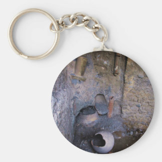Pompeii - ancient wine-mixing vessels keychain