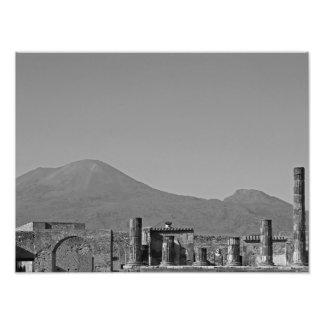 Pompeii and Mt. Vesuvius Art Photo
