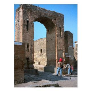 Pompeii, Archway to the forum Postcard