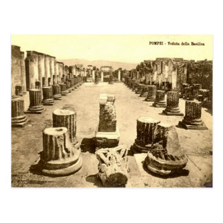 Pompeii, Courtyard of the Basilica Postcard