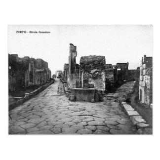 Pompeii, Crossroads in the town Postcard