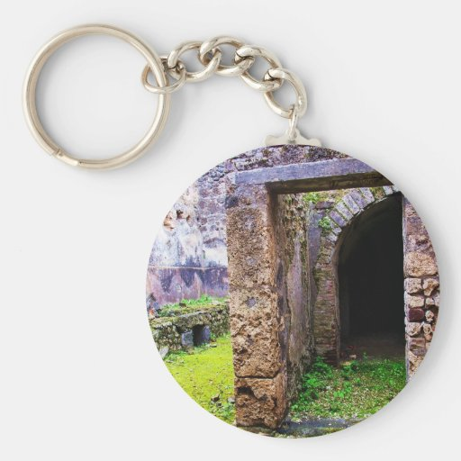 Pompeii - Entrance Door to a Ruins of a House Key Chains
