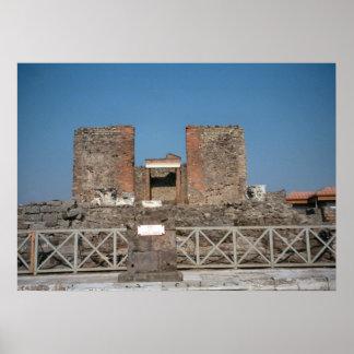 Pompeii, Excavations Poster