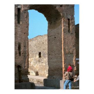 Pompeii, Grain shopway to the forum Postcard