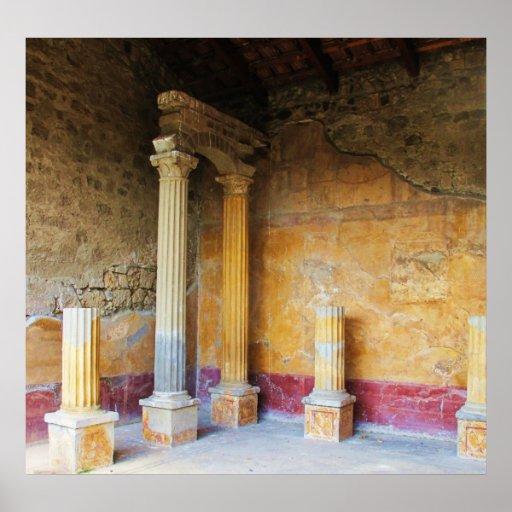 Pompeii - House of the Amorini Dorati Poster